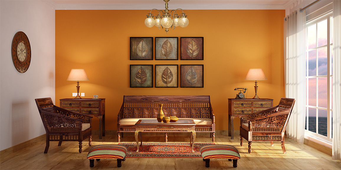 Indian ethnic living room designs online indie glorious for Indian ethnic living room designs