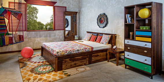 Indian ethnic bedroom designs online classic accents for Ethnic bedroom ideas