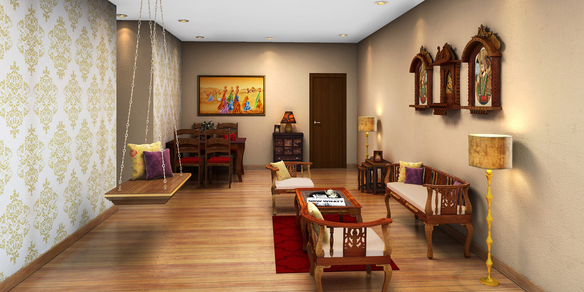 Indian ethnic living room designs online trinal feel for Lift furniture to second floor