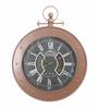 @ Home Black Plastic 44.1 x 4.7 x 56.3 Inch Roman Wall Clock
