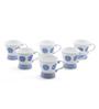 @ Home Blue Bone China 150 ML Cups - Set of 6
