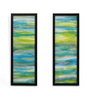 @ Home Canvas & MDF 6.6 x 0.8 x 18.3 Inch Waves Framed Art Panel - Set of 2