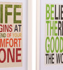 @ Home Canvas & Wood 21.7 x 1.8 x 14.6 Inch Garden Sayings Framed Painting - Set of 2