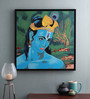 @ Home Canvas & Wood 33.5 x 1.6 x 33.5 Inch Hare Krishna Religious Framed Painting