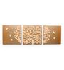 @ Home Golden Polyresin Tree of Life Art Panel - Set of 3
