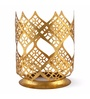 @ Home Green Glass Enchanted Candle Holder