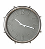 @ Home Grey Plastic 19.3 x 1.6 x 19.7 Inch Drummers Wall Clock
