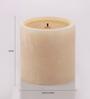 @ Home Yellow Lemon Grass Pillar Candle