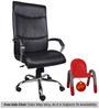 (Free Kid Chair)Escaso High Back In Black  in Black Color By VJ Interior