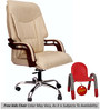 (Free Kid Chair)Primeus Executive High Back Chair in Cream Color By VJ Interior