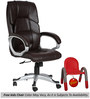 (Free Kid Chair)The Mariposa Executive High Back Chair Brown color by VJ Interior