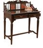 Teak Wood Writing Desk In Walnut Finish by ExclusiveLane