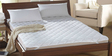 100% Cotton White Allergy Free Mattress Proctector by Story@Home