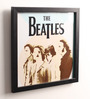 10am Wood & Canvas 10 x 0.5 x 10 Inch Beatles Framed Digital Poster
