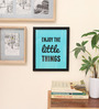 10am Wood & Canvas 8 x 0.5 x 10 Inch Enjoy the little things Framed Digital Poster