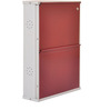 Metallic Two Door Shoe Rack in Maroon Color by FurnitureKraft
