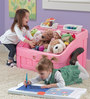 2-In-1 Toy Box & Art Lid -Pink by Step 2