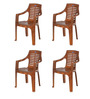 6020 Chair Set of Four in Mango Wood Colour by Nilkamal