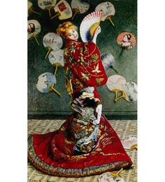 64Arts Canvas 10 x 16 Inch La Japonaise by Claude Monet Unframed Digital Art Print