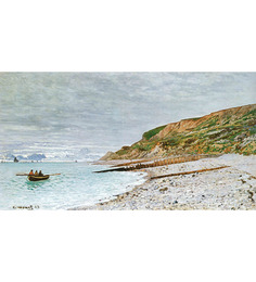 64Arts Canvas 16 x 10 Inch La Pointe de la Hve by Claude Monet Unframed Digital Art Print