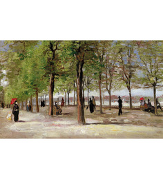 64Arts Canvas 16 x 10 Inch Lane at the Jardin Du Luxembourg by Vincent Van Gogh Unframed Digital Art Print
