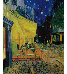 64Arts Canvas 12 x 16 Inch Cafe Terrace on Place Du Forum by Vincent Van Gogh Unframed Digital Art Print