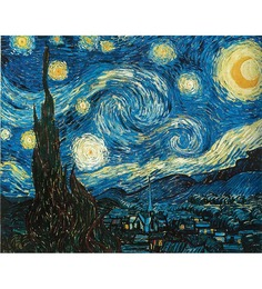64Arts Canvas 16 x 12 Inch Starry Night by Vincent Van Gogh Unframed Digital Art Print
