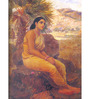 64Arts Canvas 16 x 24 Inch Sita Vanavasa by Raja Ravi Varma Unframed Digital Art Print