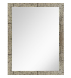 999Store Natural Black & Green Fiber Framed Bathroom Mirror