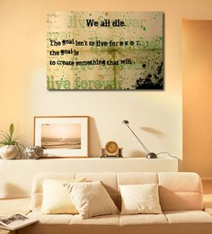 999Store Vinyl Goal of Life Quote Durable & Washable Wall Sticker