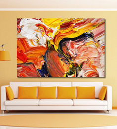 999Store Vinyl 72 X 0.4 X 48 Inch Abstract Painting Unframed Digital Art Print - 1505236