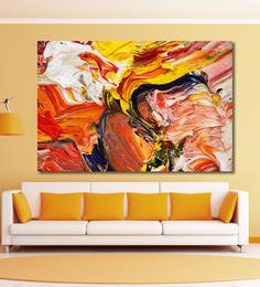 999Store Vinyl 72 X 0.4 X 48 Inch Abstract Painting Unframed Digital Art Print - 1505236