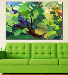 999Store Vinyl 72 X 0.4 X 48 Inch Blurred Spot Abstract Painting Unframed Digital Art Print