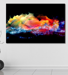 999Store Vinyl 72 X 0.4 X 48 Inch Clouds Of Fractal Foam & Abstract Lights Painting Unframed Digital Art Print