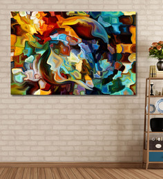 999Store Vinyl 72 X 0.4 X 48 Inch Colours Of The Mind Series Painting Unframed Digital Art Print