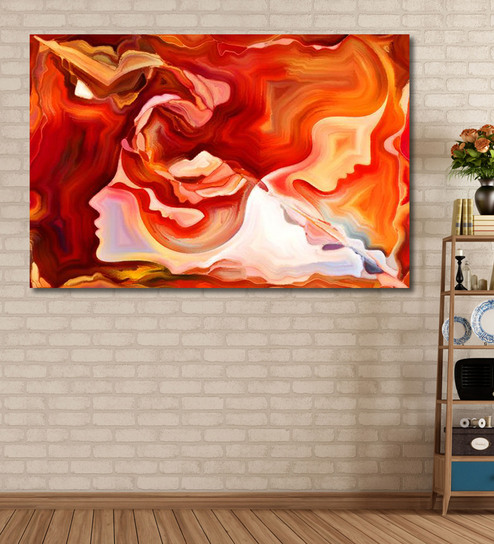 999Store Vinyl 72 X 0.4 X 48 Inch Forces Of Nature Series Painting Unframed Digital Art Print