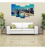 999Store Sun Board 10 x 29 Inch Scenic City Sturdy Wall Art - Set of 5