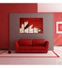 999Store Sun Board 10 x 29 Inch Modern Leaf Art Durable Painting - Set of 5