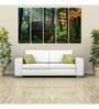999Store Sun Board 10 x 29 Inch Forest Hut Sturdy Wall Art - Set of 5