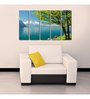 999Store Sun Board 10 x 29 Inch Forest River Sturdy Wall Art - Set of 5