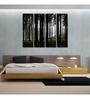 999Store Sun Board 10 x 29 Inch Symmetric Forest Wear & Tear Resistant Painting - Set of 4