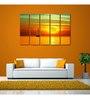 999Store Sun Board 10 x 29 Inch Ship In Dawn Sturdy Wall Art - Set of 5