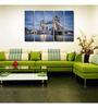 999Store Sun Board 10 x 29 Inch Glowing Tower Bridge Sturdy Wall Art - Set of 5