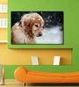999Store Vinyl Dog in Snow Durable & Washable Wall Sticker