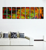 999Store Fibre 103 x 0.8 x 30 Inch Abstract Artwork Framed Art Panels - Set of 9