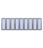 999Store Fibre 103 x 0.8 x 30 Inch City Scape Abstract Framed Art Panels - Set of 9