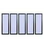 999Store Fibre 59 x 0.8 x 30 Inch Abstract Framed Art Panels - Set of 5