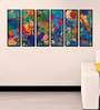 999Store Fibre 70 x 0.8 x 30 Inch Abstract Framed Art Panels - Set of 6