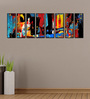 999Store Fibre 92 x 0.8 x 30 Inch Abstract Framed Art Panels - Set of 8