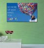 999Store Vinyl Colorful Happy Quote Durable & Washable Wall Sticker